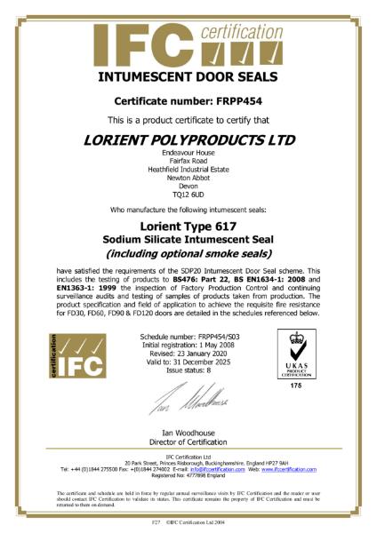 IFC Certificate