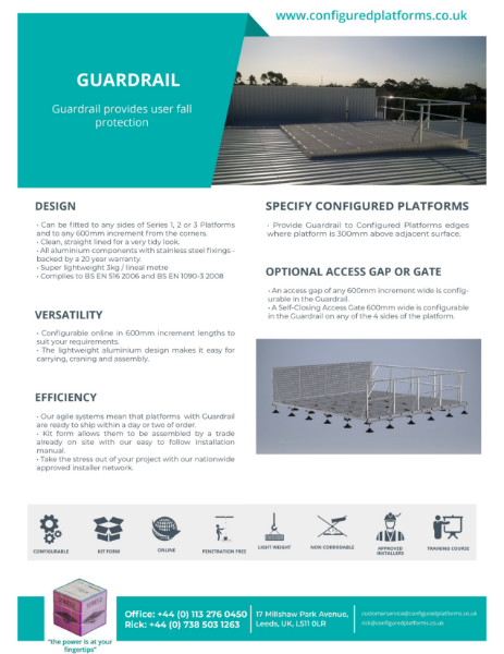 Guardrail Specification Data Sheet