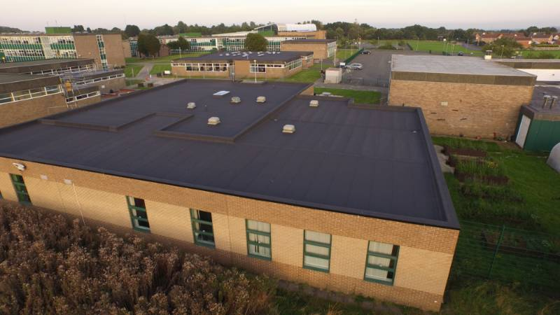 Three flat roofs at a learning village that were beyond serviceable have had their roof surface and insulation refurbished