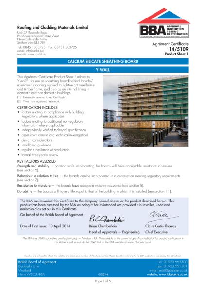 YWall BBA Certificate