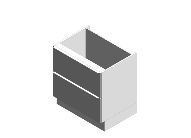 Gallery Drawer Base Cabinets 2 Draw