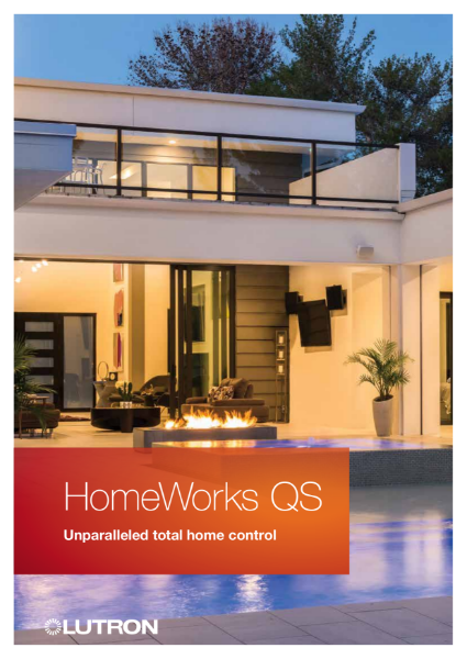 Lutron HomeWorks Home solution