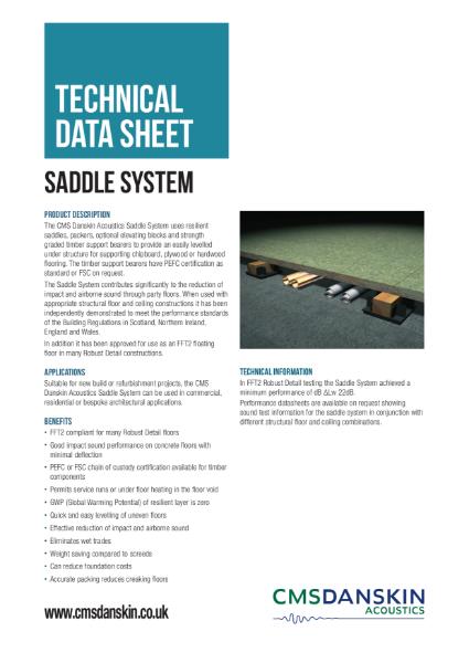 CMS Danskin Acoustics Saddle System TDS