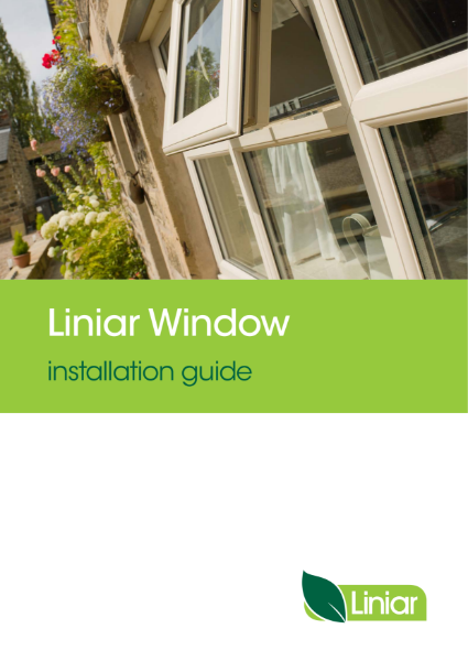 Liniar window installation guide