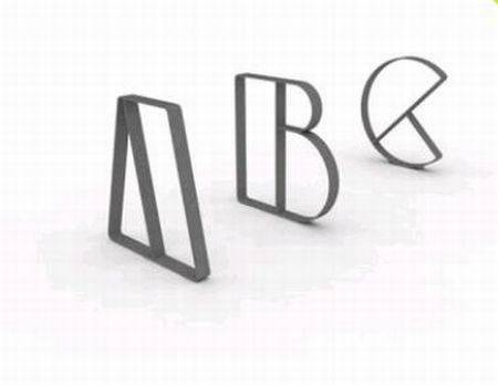 Letterform Cycle Stand