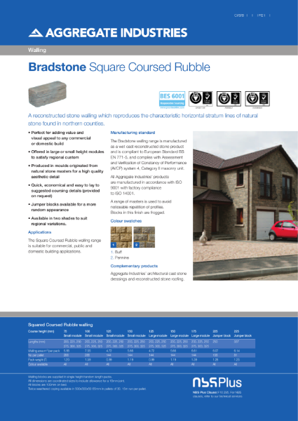 Bradstone Squared Coursed Rubble Walling
