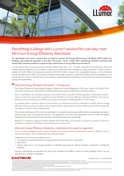 LLumar window films and MEES