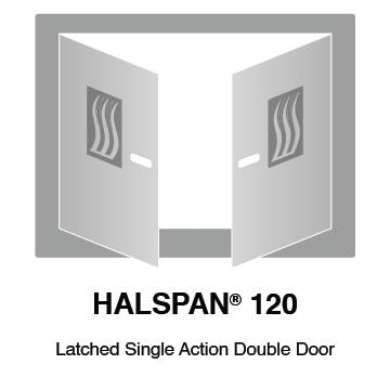 HALSPAN® 120 Fire Rated Interior Grade Door Blanks - Latched Single Acting Double Doors