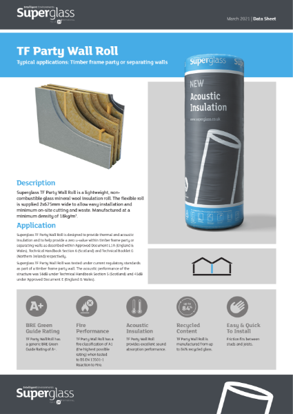 Superglass TF Party Wall Roll - Datasheet