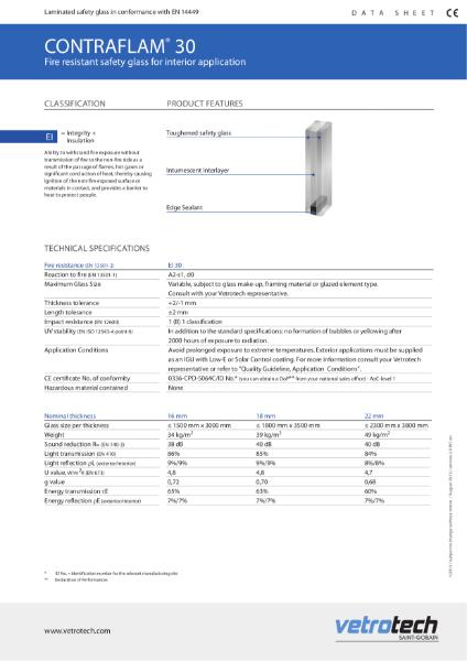001. Contraflam Datasheets