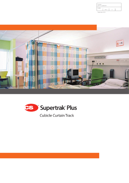 CS Supertrak Plus Cubicle Curtain Track