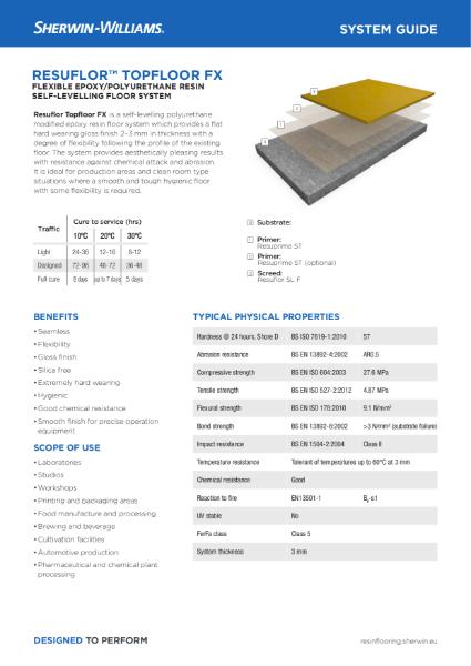Resin flooring Resuflor Topfloor FX system