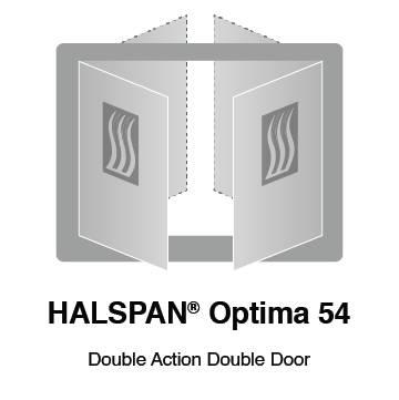 HALSPAN® Optima 54 mm Internal Fire Rated Door Blank - Double Acting Double Doors