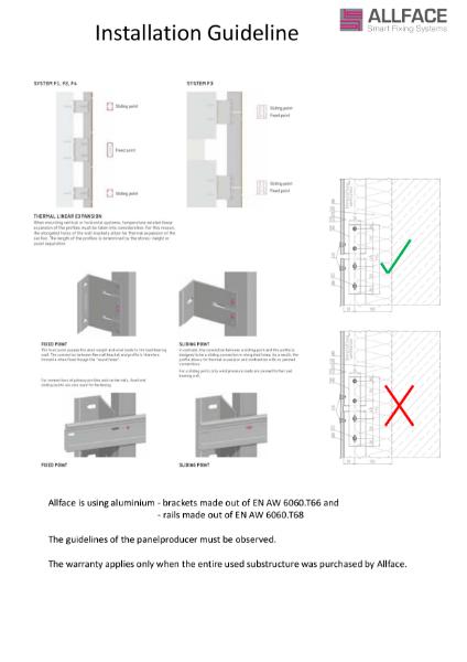 Allface Installation Guidelines