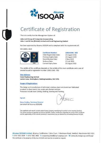 ISO 4001 Environmental