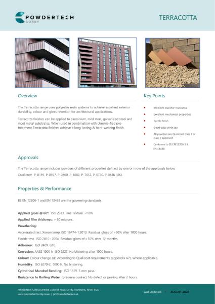 Terracotta data sheet August 2020