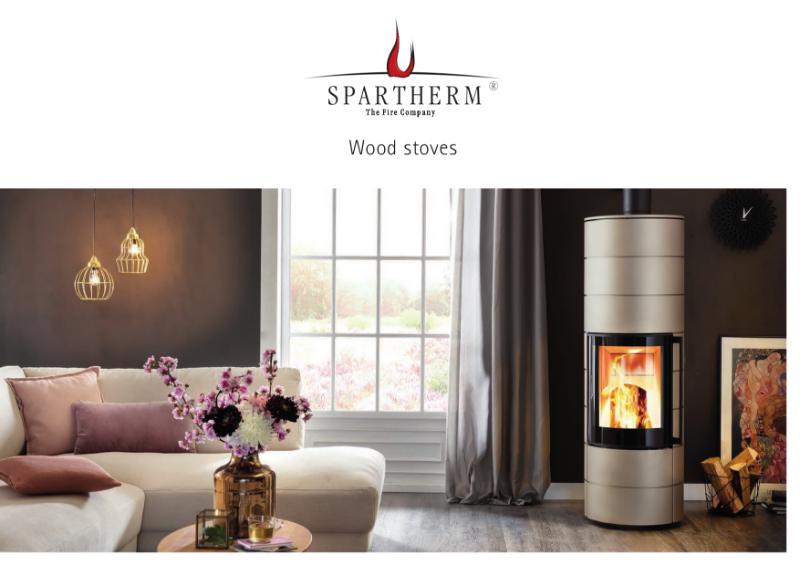 Spartherm freestanding wood stoves product brochure