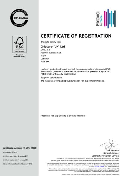 Gripsure FSC® Certificate - C109573