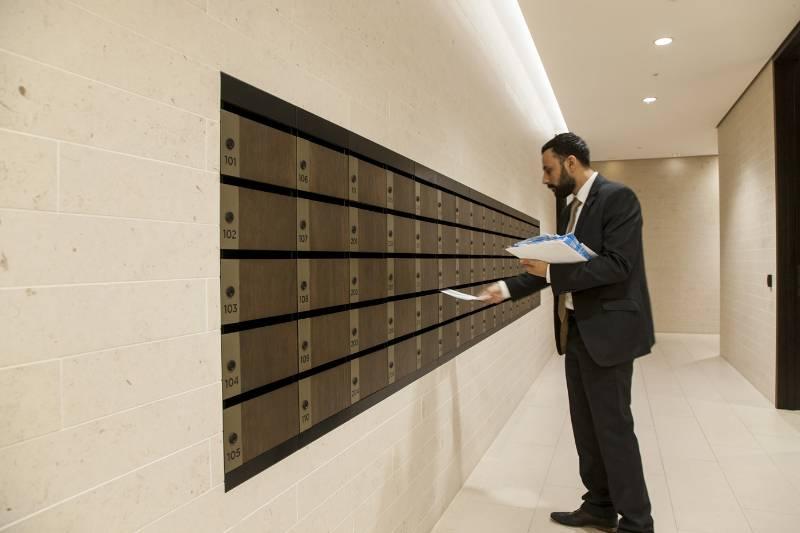 Rathbone Square - Bespoke Mailboxes