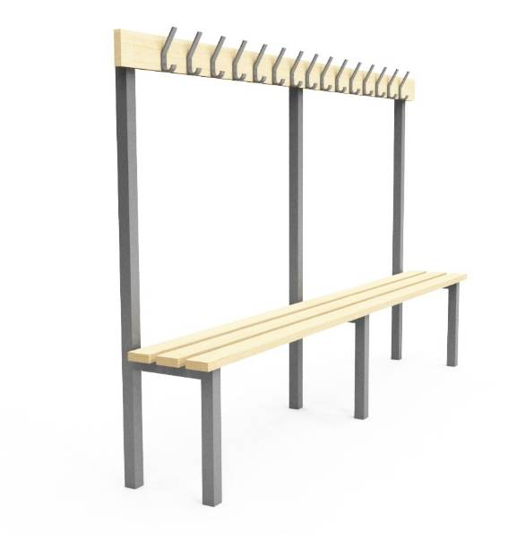 Single Sided Cloakroom/Changing Room Bench - H1