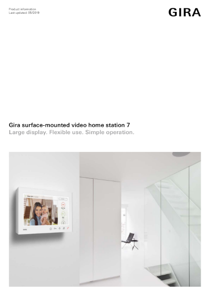 Gira Door Communication Video Home Station 7