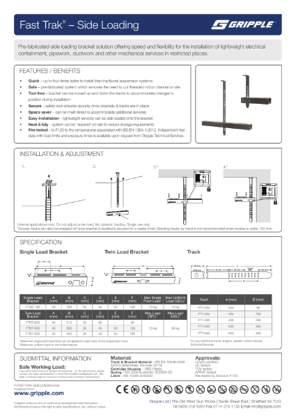 Fast Trak Side-Loading PI Sheet