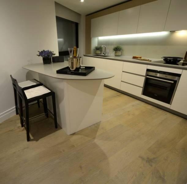 Oak Engineered Wood Flooring, Light Fumed