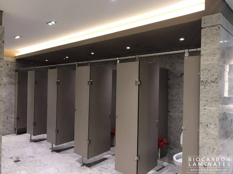 BioCarbon Carbon Neutral Solid Grade Laminate (SGL) Washroom Collection