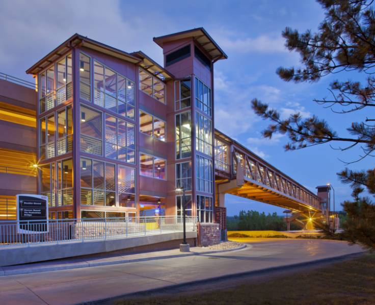 PALGARD™ Pedestrian Bridge Glazing in Denver, Colorado, USA
