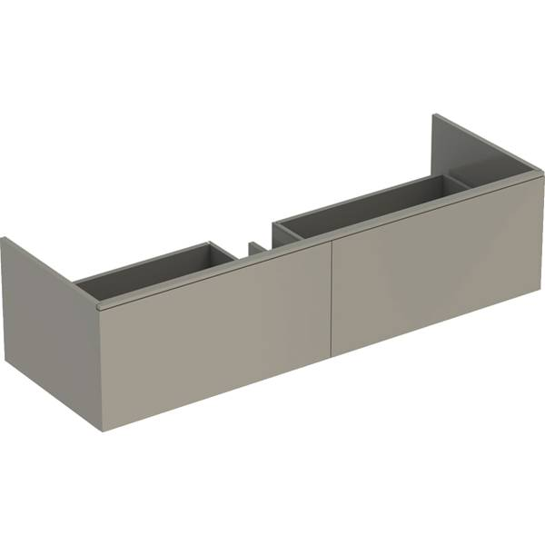 Xeno² cabinet for washbasin made of solid surface material, with two drawers
