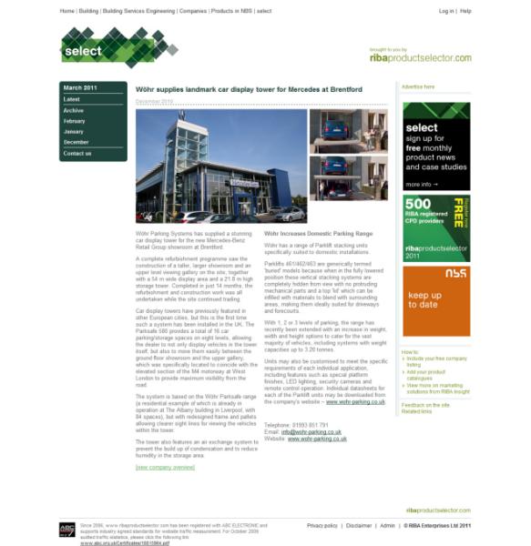 Case Study: Car Display Tower, Brentford