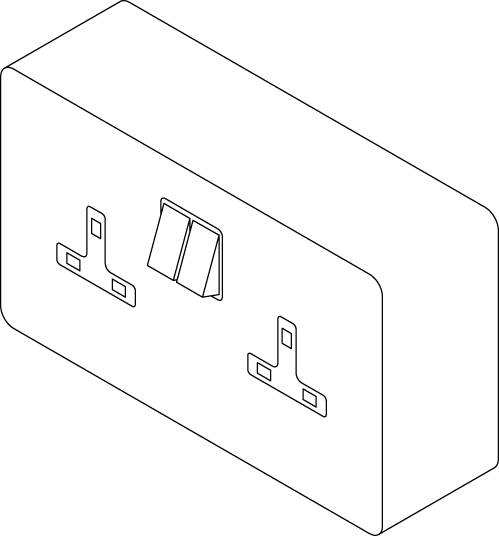 Health Care Twin Socket Outlet