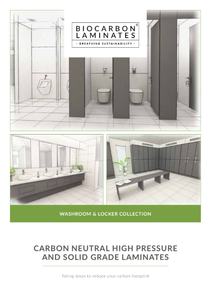 BioCarbon Laminates Washroom and Locker Collection