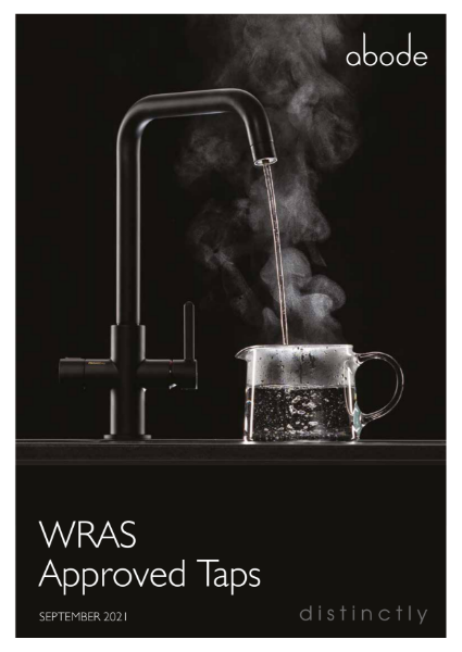 ABODE WRAS APPROVED KITCHEN TAPS - SEPT 2021