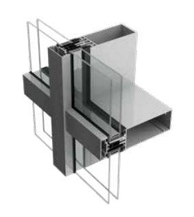 Stick curtain walling systems