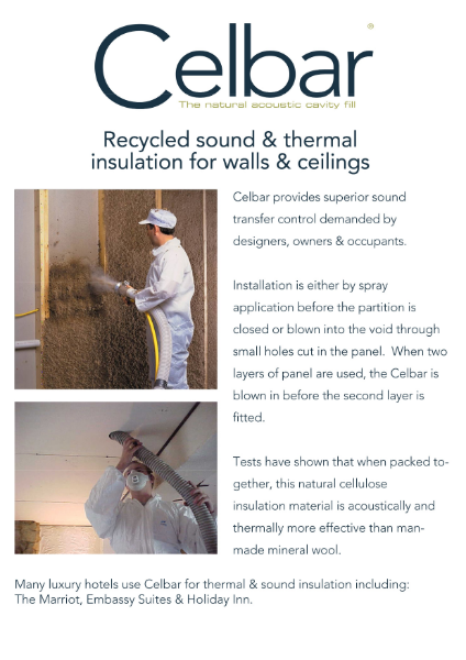 Celbar Acoustic Thermal Cavity Fill