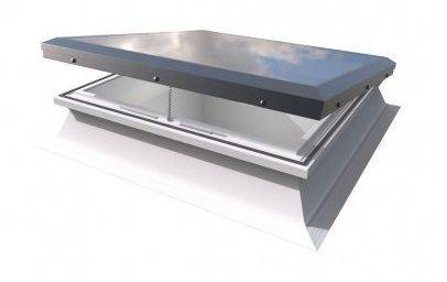Electric Flat Roof Window - Mardome Flat Glass Rooflight