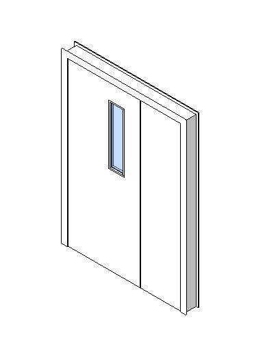 Internal Uneven Door, Vision Panel Style VP01