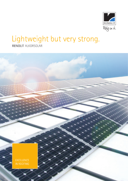 RENOLIT ALKORPLAN Solar Profile system  Brochure