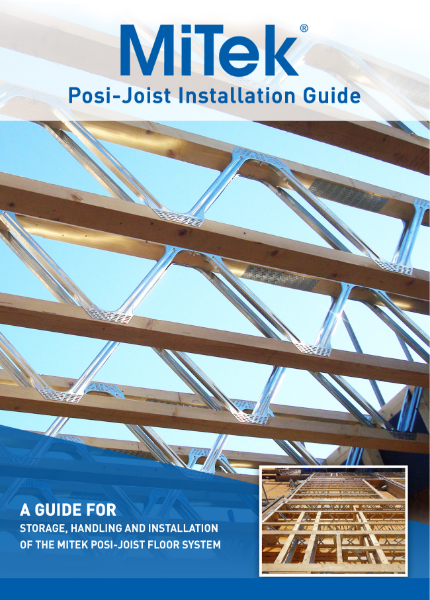 03 Posi-Joist Metal Web Joist Installation Guide
