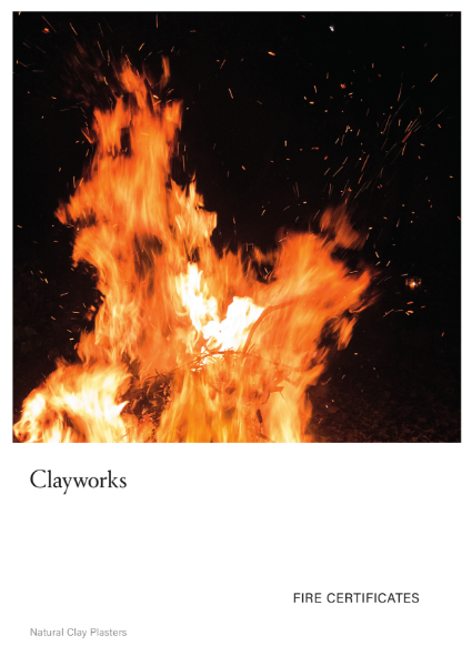 Clayworks Fire Certificate