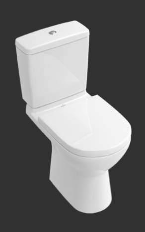 O.novo Washdown WC for Close-coupled WC-suite, Horizontal Outlet 5661R0