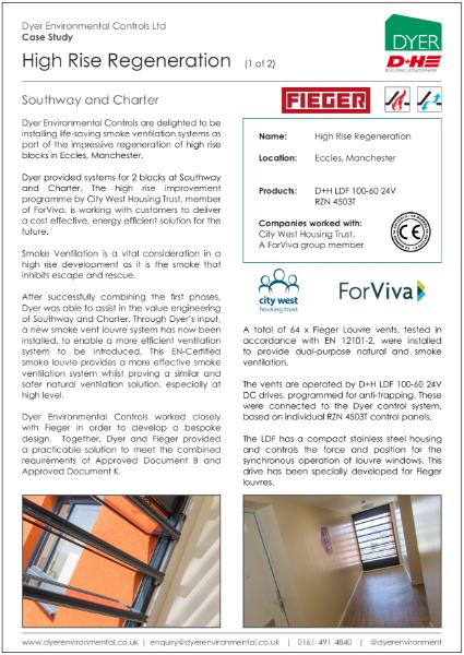 Natural & smoke ventilation at Southway and Charter