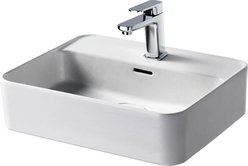 Fusaro Vessel Basin 50X40 White OF 1TH Rect