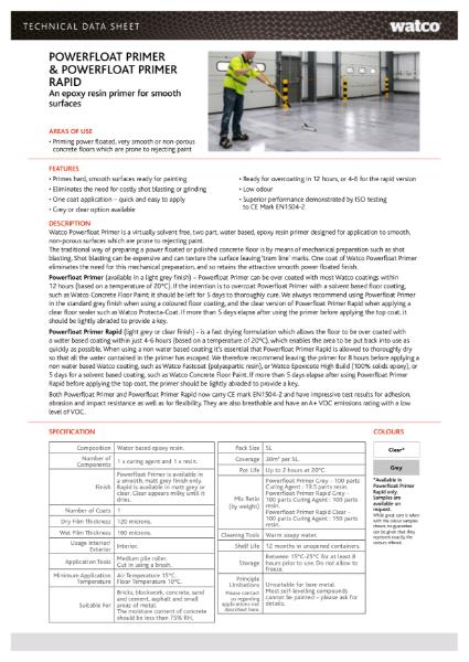 Data Sheet: Powerfloat Primer & Rapid