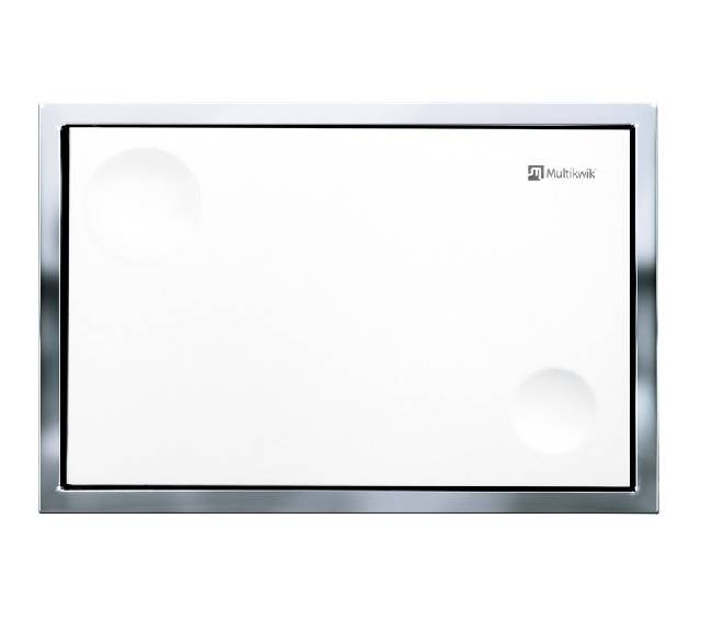 TRF0400AT Multikwik Flush Plate - Atlas Recessed (White Finish)