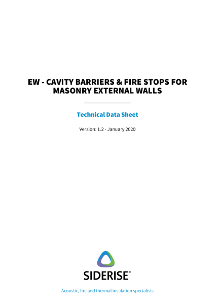 Cavity Barriers & Fire Stops for Masonry External Walls v1.2