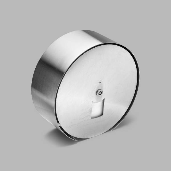 Large Maxi toilet roll holder with steel front
