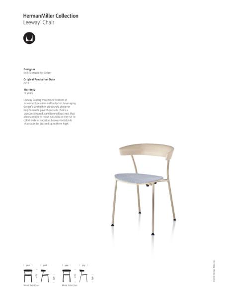 Leeway Chair - Product Sheet