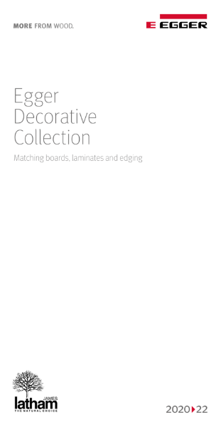 Egger Decorative Collection 2020-22 Matching boards, laminates & edging